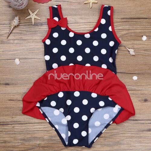 Baby Mädchen Einteiler Badeanzug Bikini Bademode gepunktet 62 68 74 80 86 92 98