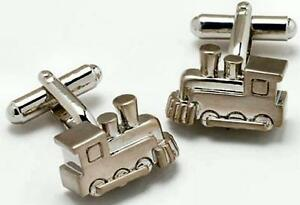 Steam Railway Engine Train Cufflinks cuff Links NEW in Cufflink Box