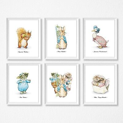 PETER RABBIT nursery decor Wall Prints,Beatrix Potter wall prints