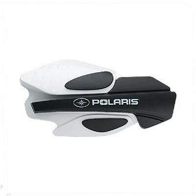 POLARIS HANDGUARDS SNOWMOBILE WIND PROTECTION WHITE/BLACK (MOUNTS NOT INCLUDED)
