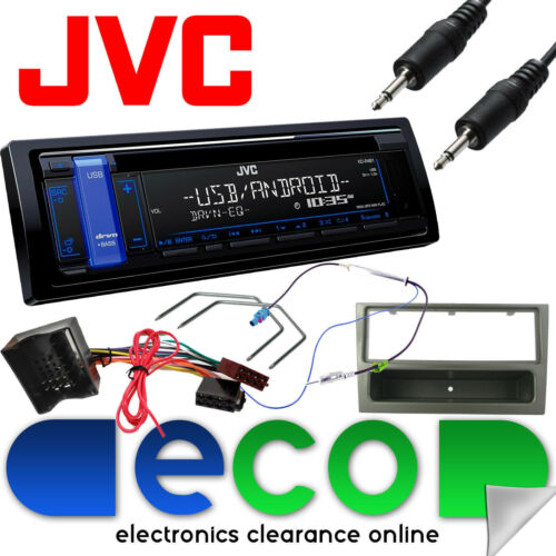Vauxhall Corsa C 04-06 JVC Car Stereo Radio Upgrade Kit MP3 AUX USB Gun Metal