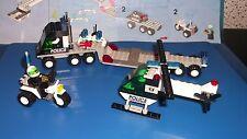 Lego® System  6324  Polizei Motorrad + 6328 Polizei  Helikopter Transport