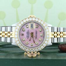 Rolex Datejust Ladies 2-Tone Gold/Steel 26mm Watch Pink MOP Diamond Dial/Bezel