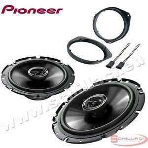 Pioneer TS-A1600C 2-Wege 16cm Lautsprecher System JUST SOUND best choice for caraudio Einbauset f/ür FIAT Grande Punto 199 Front