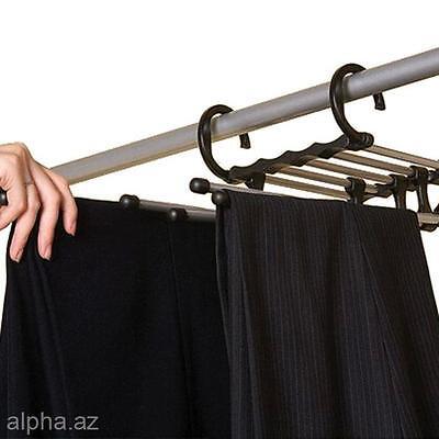 5 in 1 Magic Rack Wardrobe Saving Space Coat Hanger Trousers Pants Clothes Hook