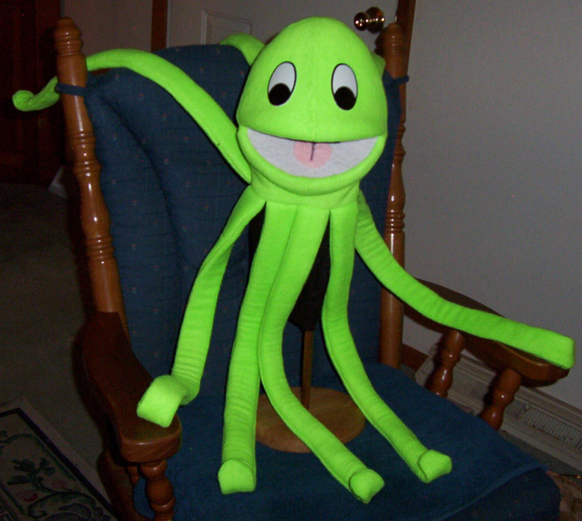 Baby Squid Ventriloquist Puppet for VBS Ministry, Aquatic, Sealife Education