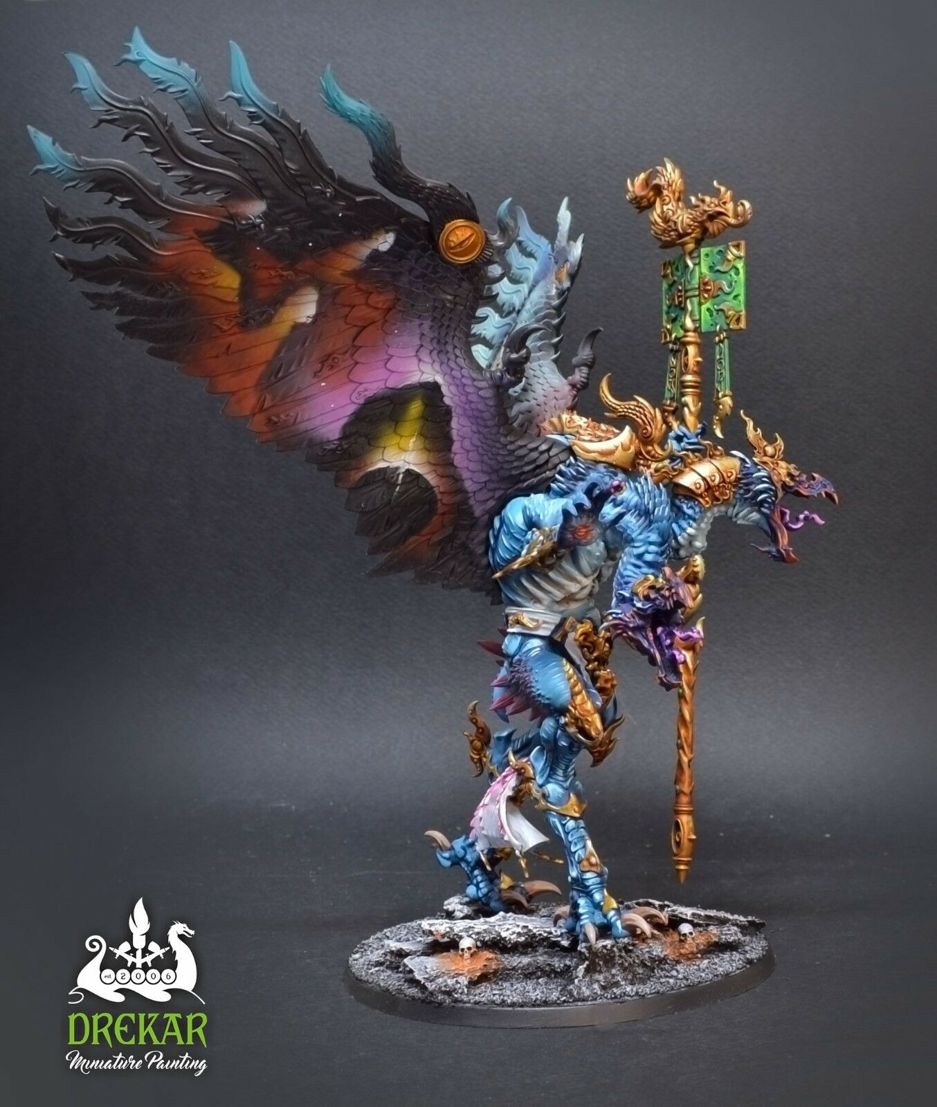 Kairos Lord of Change Tzeentch    COMMISSION  painting daemons warhammer babf7d