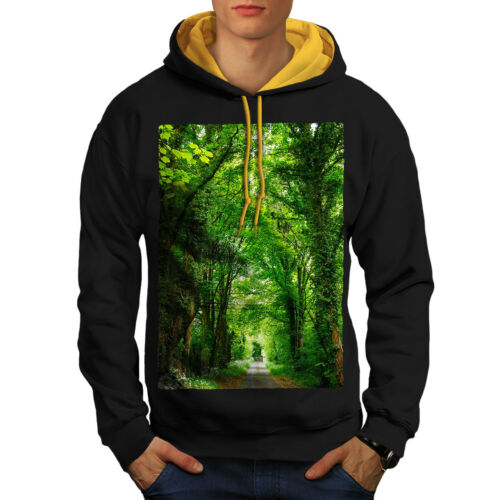 gold Road New Green Hood Contrast Forest Black Hoodie Men vwFqxPZ