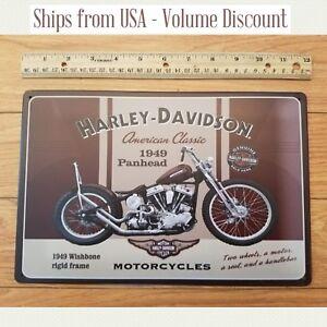 Harley-Davidson Panhead Motorcyle Metal Sign