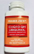 Trader Joe's Coq10 Ubiquinol Enhanced Absorption 100mg 60 Softgels Qty