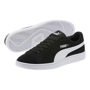 best sneakers 26947 b339d Details about PUMA Men's Suede Smash V2 Sneakers w/ Soft Foam - Black &  White - Size 9 US