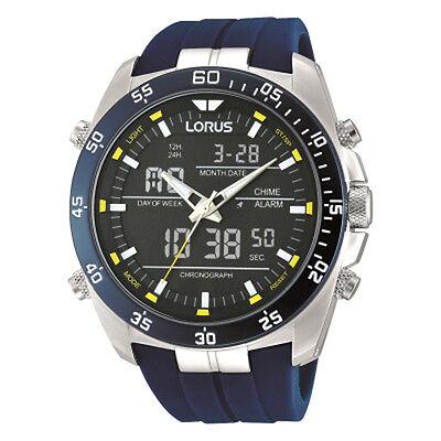 Lorus Gents Dual Display Resin Strap Watch  LNP RW617AX9