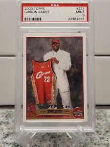 2003-04 Topps #221 LeBron James RC Rookie Cavaliers PSA 9 Looks GEM MINT 📈🔥