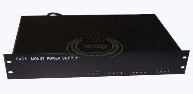 Rack Mount CCTV Power Supply 16 Ports 13 Amp 12V DC Output