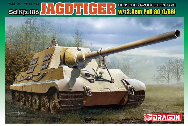 1 35 Dragon Sd.Kfz.186 Jagdtiger w 12.8cm PaK.80 (L 66)