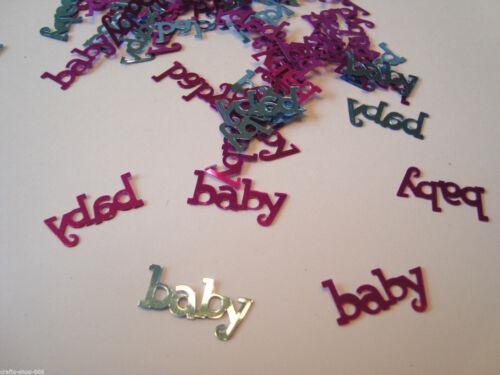 100 objetos perdidos bebé mesa decoraciones arte tarjeta haciendo plata azul púrpura