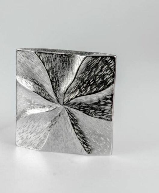 Deko-Objekt Spirale Silberoptik