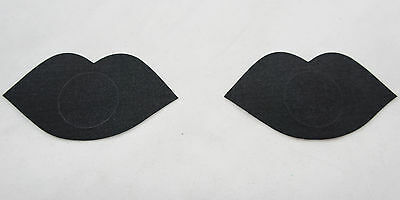 Ladies Sexy Sequined Tassel Heart Stick On Pasties Breast Plain Nipple Covers US