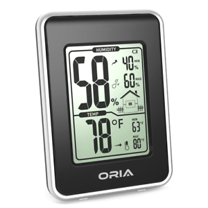 Indoor Thermometer Humidity Monitor Gauge ORIA Digital Hygrometer Thermometer