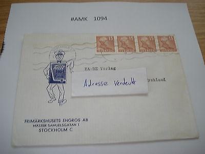 #amk1094 Beleg Brief Postkarte Ganzstück Europa Schweden Stockholm AusgewäHltes Material