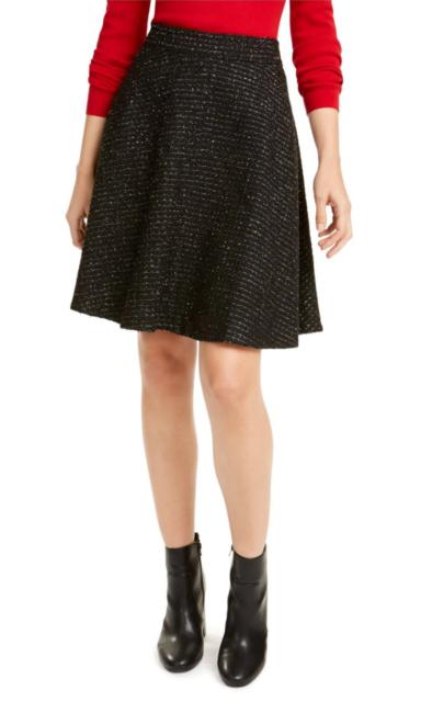 Maison Jules Womens Black Above The Knee A-Line Skirt 10