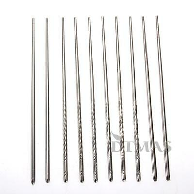 5 Pairs Stainless Steel Chopsticks Chop Sticks Silver
