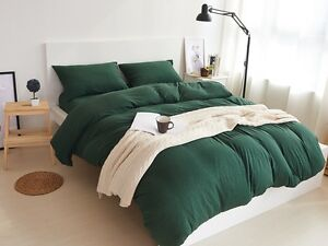 sets sheets cotton leaf green king set comforter embroidered bedding cover item bed duvet queen