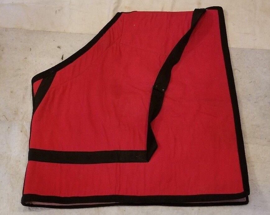 Kieffer Schabrak Katoen Blanket Liner Red Bordeaux Horse Saddle Pad