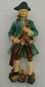 Inarco Colonial Minuteman Patriot Figurine Wall Hanging Bisque Vtg E-2546 RARE