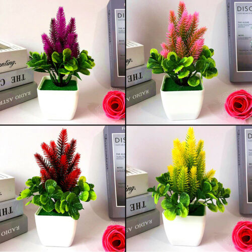 Artificial Fake Flower Potted Plant Bonsai Party Outdoor Garden Home Decoration