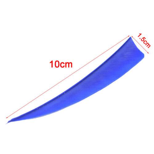 "50pcs 4/"" Shield Cut Fletches Arrow Feathers Turkey Feather Arrow AccessoNWUS"