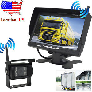 """digital wireless rear view backup camera system 7"""" lcd for"""
