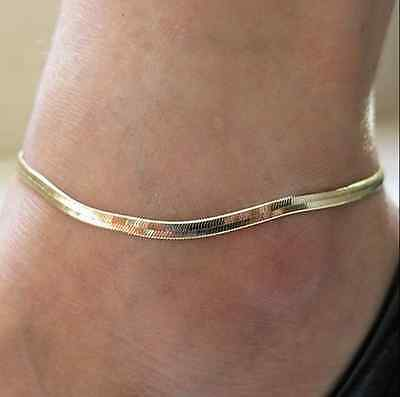 Women Girls Silver/Gold Ankle Bracelet Anklet Foot Jewelry Herringbone Beach new