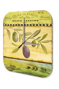 Gehorsam Wanduhr Flora Blumen Deko Olivenzweig Acryl Dekouhr Vintage Einfach Und Leicht Zu Handhaben Dekoration