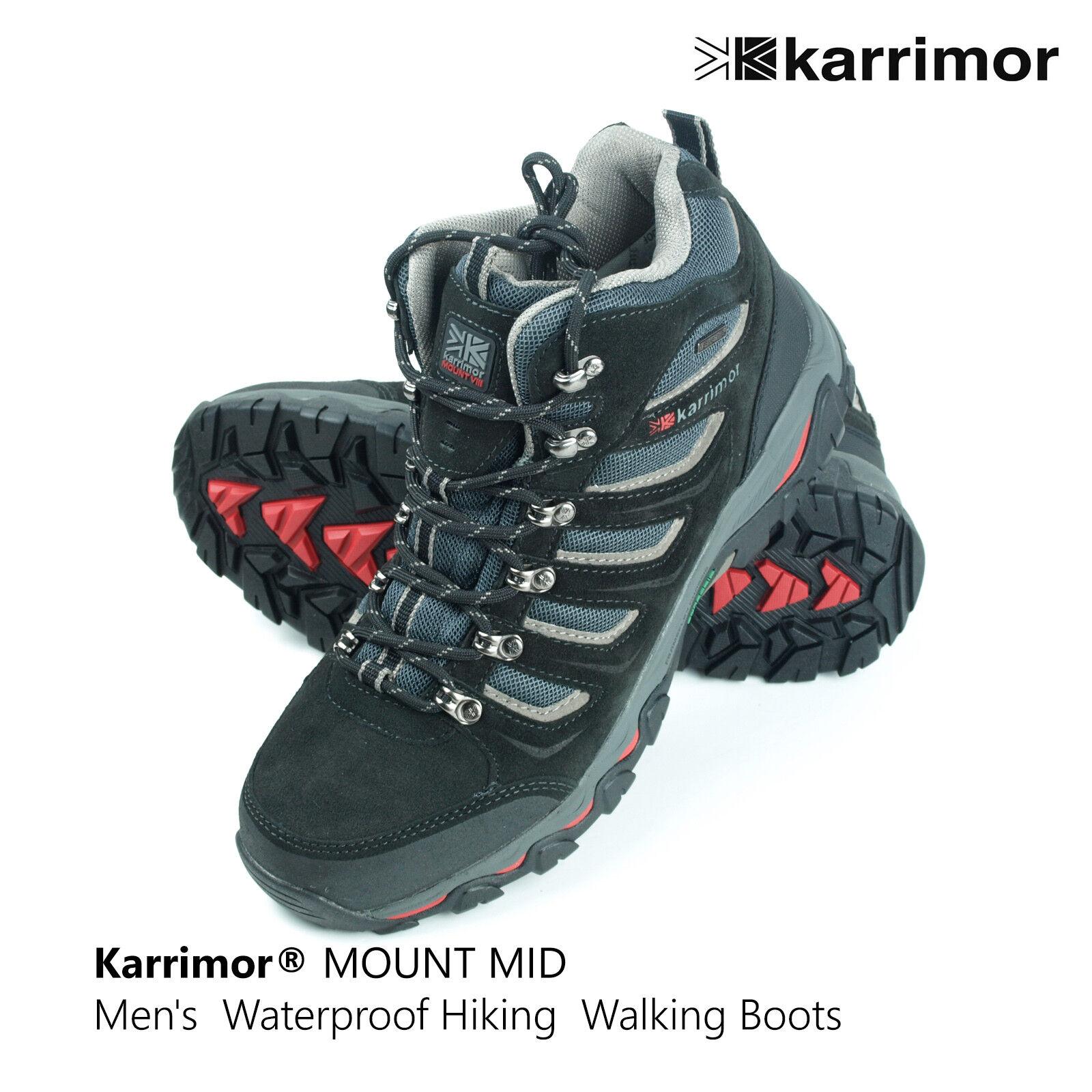 Karrimor Mount Mid Men's Waterproof Hiking Walking Ankle Boots 182105
