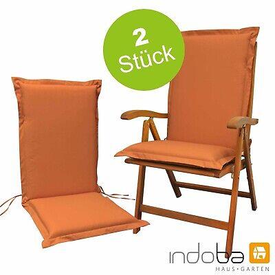 2 x Sitzauflage Hochlehner Polsterauflage Stuhlauflage Auflage extra dick Terra