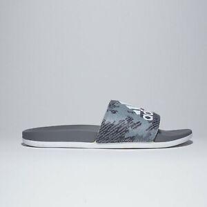 adidas-Men-039-s-Adilette-Comfort-Slides-White-Grey-9-M-US