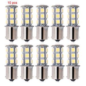 10x-12V-1156-BA15S-5050-7503-1141-18SMD-LED-White-Car-RV-Trailer-Light-Lamp-Bulb