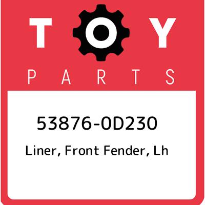 53876-33180 Toyota Liner lh 5387633180 New Genuine OEM Part front fender