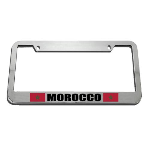 Morocco Moroccan Flag License Plate Frame Tag Holder