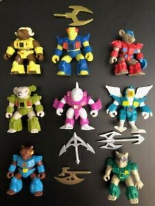 Vintage-Battle-Beasts-lot-of-8-with-some-Weapons-amp-Rubs-TAKARA-Hasbro