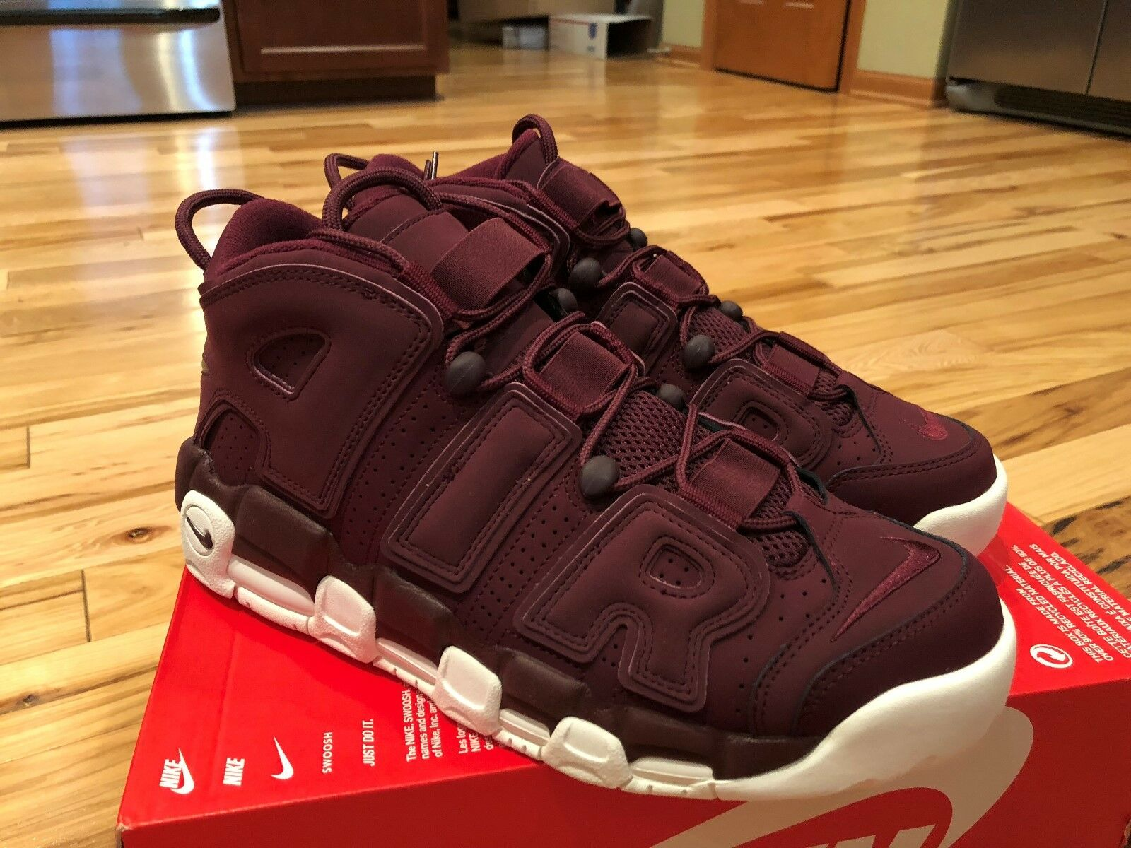 Nike Air More Uptempo 96 QS Night Maroon 921949 600 Men's Size 10