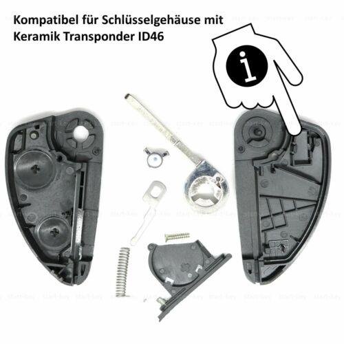 Clave de plegado para Alfa Romeo 156 147 166 GT sustituto carcasa Repair rohling