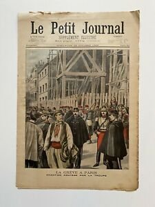 Supplement-Illustre-Le-Petit-Journal-23-10-1898-N-414-LA-GREVE-A-PARIS