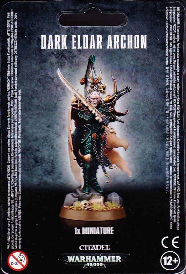 Dunkle eldar 40.000 archon games workshop warhammer 40.000 eldar 40 gw 45-22 tabletop 28 mm f3813a