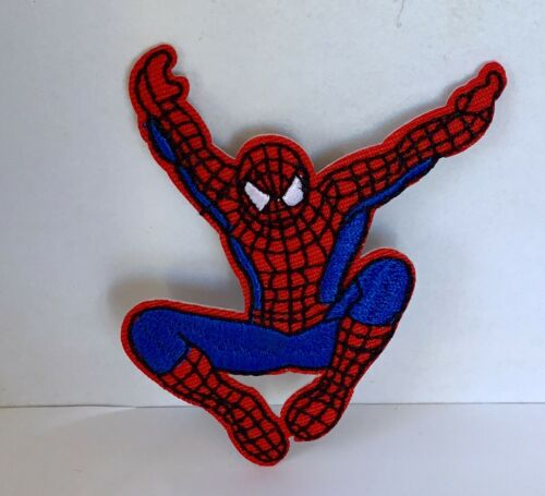 SPIDERMAN SUPERHERO COMIC EMBROIDERED APPLIQUÉ PATCH SEW OR IRON CHARACTER #475