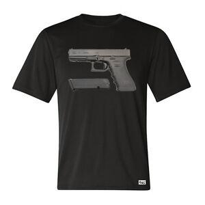 EAKS-HERREN-T-SHIRT-Motiv-GLOCK-17-schwarz-Pistole-P-80-9mm-Polizei-Militaer