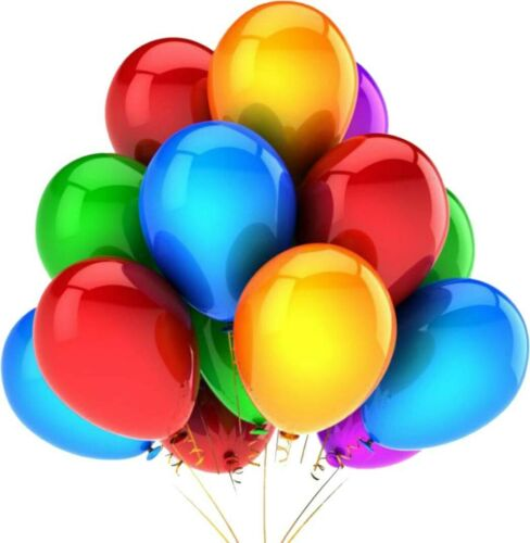 Happy Birthday Letter Foil Balloons Set Decoration Combo with 50 Metallic Balloo