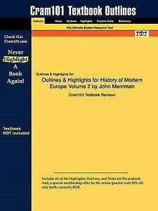 Outlines-amp-Highlights-for-History-of-Modern-Europe-Volume-2-Paperback-by-Cra