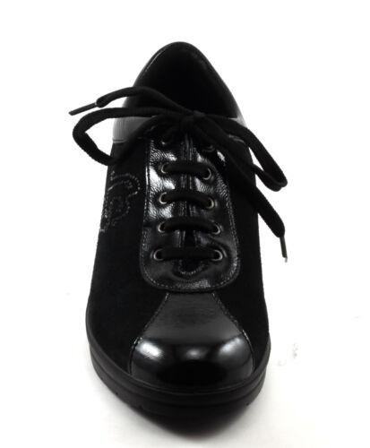 Sneakers N E Strass Vernice Pelle Scarpe Style Con 35 Confort Donna Nero Nabuk PBxnxRW